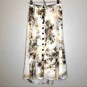 Jules and Leopold floral button down maxi size 2